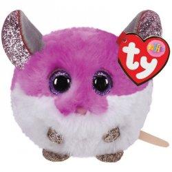 MaskotkaTY Puffies Purpurowa mysz - Colby