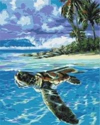 Obraz Paint it! Malowanie po numerach. Tropikalny żółw