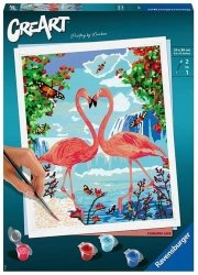 Malowanka CreArt Zakochane flamingi