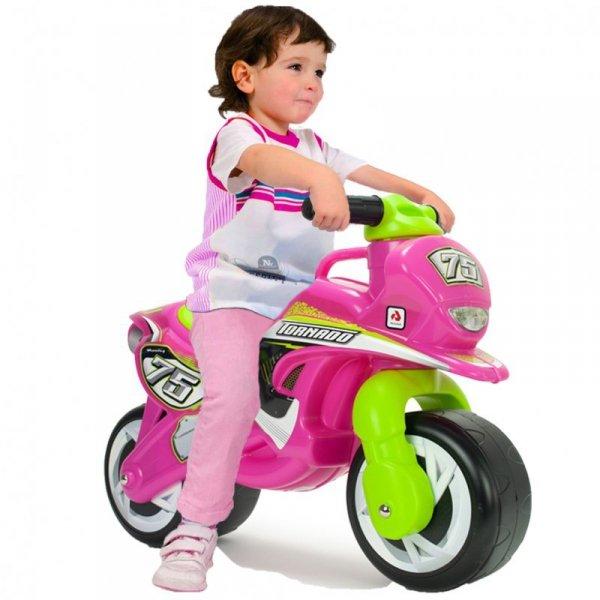 INJUSA Różowy Motorek Biegowy Jeździk Thundra