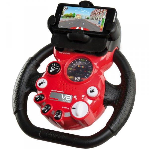 Smoby Symulator Jazdy V8 Kierownica z uchwytem na telefon