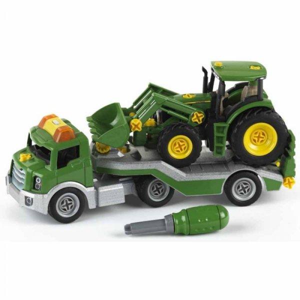 John Deere traktor na lawecie z narzędziami Klein