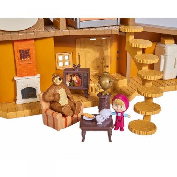 Simba Masza i Niedźwiedź Dwupoziomowy Domek Niedźwiedzia Akcesoria