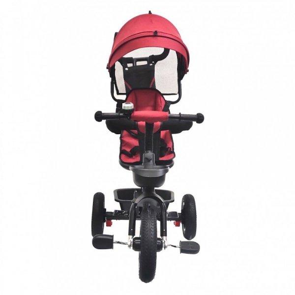 Rowerek trójkołowy  pompowane koła/wolne koło BT-10 Czarna rama - czerwony