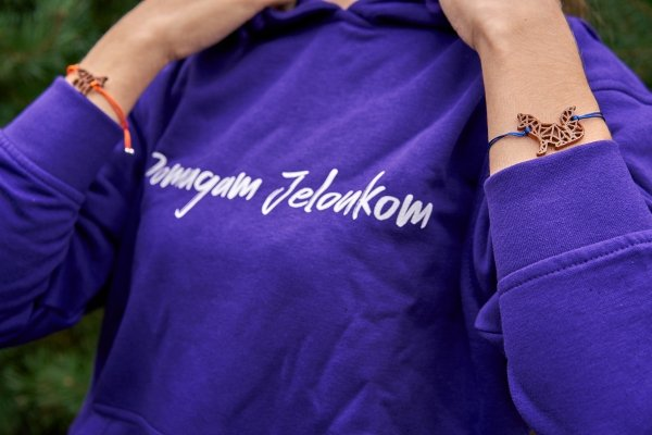 Jelonkowa bluza - Fioletowa