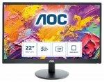 Monitor AOC E2270SWDN (21,5; TN; FullHD 1920x1080; VGA; kolor czarny)