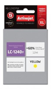 Tusz Activejet AB-1240YNX (zamiennik Brother LC1240Y/1220Y; Supreme; 12 ml; żółty)