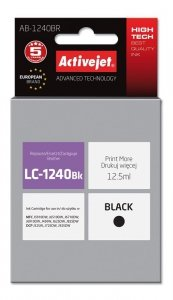 Tusz Activejet AB-1240BR (zamiennik Brother LC1240BK/1220BK; Premium; 12.5 ml; czarny)