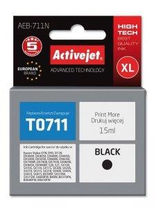 Tusz Activejet AEB-711N (zamiennik Epson T0711, T0891, T1001; Supreme; 15 ml; czarny)