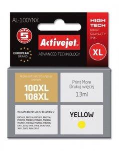 Tusz Activejet AL-100YNX (zamiennik Lexmark 100XL/108XL 14N1071E; Supreme; 13 ml; żółty)