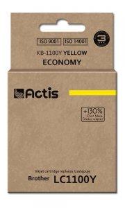 Tusz ACTIS KB-1100Y (zamiennik Brother LC1100Y/980Y; Standard; 19 ml; żółty)