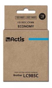 Tusz ACTIS KB-985C (zamiennik Brother LC985C; Standard; 19,5 ml; niebieski)
