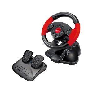 Kierownica z wibracjami Esperanza High Octane EG103 (PC, PS2, PS3; kolor czarny)