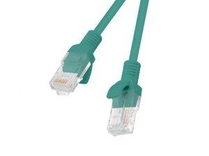 Kabel UTP Lanberg PCU5-10CC-0025-G (RJ45, U/UTP - RJ45, U/UTP ; 0,25m; UTP; kat. 5e; kolor zielony)