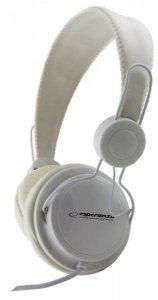 Esperanza EH148W headphones/headset Słuchawki Opaska na głowę Biały