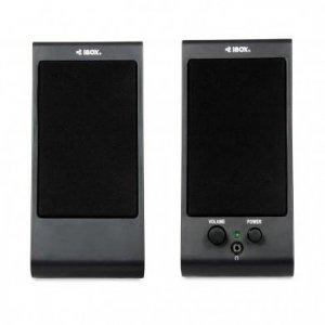 Zestaw głośników komputerowe IBOX SP2, 2.0 IGLSP2 (2.0; kolor czarny)