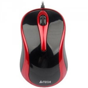 Mysz A4 TECH V-Track N-350-2 A4TMYS41193 (optyczna; 1000 DPI; kolor czarny)