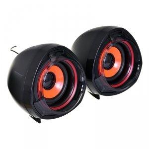 Esperanza EP141 Zestaw głośników 2.0 USB kanały 5 W Czarny/Pomarańczowy