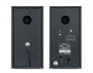 Zestaw kolumn glosnikowych 2szt REAL-EL S-250 (aktywne, 20W, black)