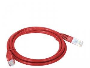 Patchcord UTP A-LAN KKU5CZE3 (RJ45 - RJ45 ; 3m; UTP; kat. 5e; kolor czerwony)
