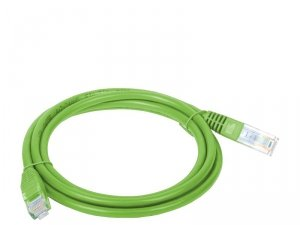 Patchcord UTP A-LAN KKU5ZIE3 (RJ45 - RJ45 ; 3m; UTP; kat. 5e; kolor zielony)