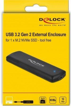 DeLOCK 42615 obudowa do dysków twardych M.2 Obudowa SSD Czarny