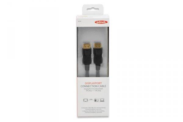 Ednet 84500 kabel DisplayPort 2 m Czarny