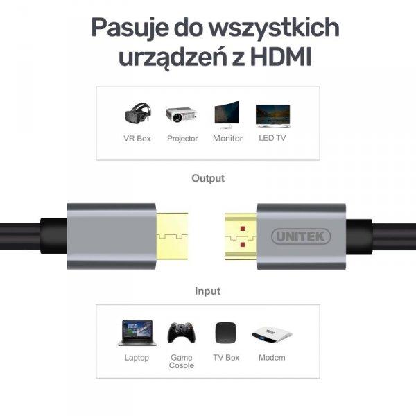 UNITEK KABEL HDMI PREMIUM 2.0, 10M, Y-C142LGY