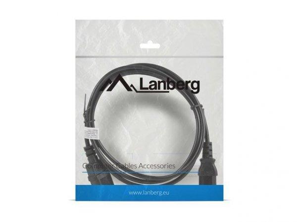 Kabel Lanberg CA-C13E-10CC-0018-BK (C14 / IEC C14 / IEC 320 C14 M - C13 F; 1,8m; kolor czarny)