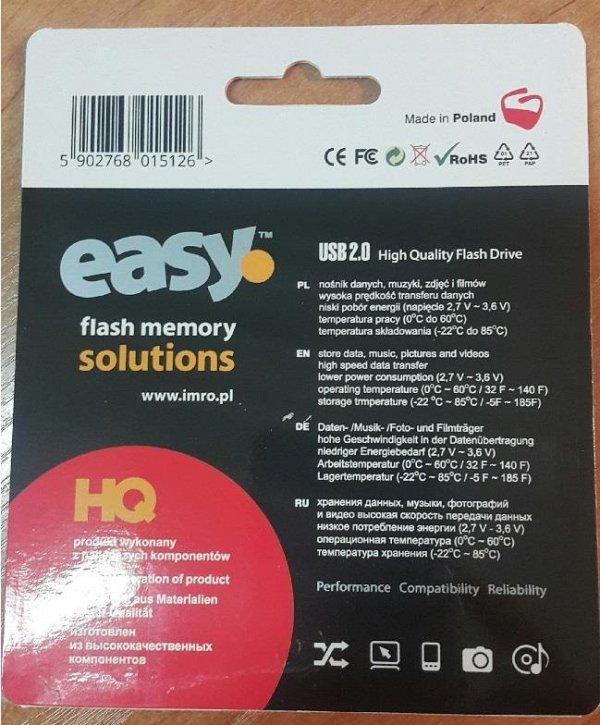 Pendrive IMRO EASY/8GB (8GB; USB 2.0; kolor czarny)