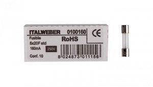 Wkładka aparatowa 5x20mm 0,16A szybka (F) L520FK00-160 /10szt./