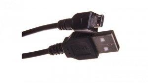 Kabel połączeniowy microUSB 2.0 Typ USB A/microUSB B, M/M czarny 1,8m AK-300127-018-S