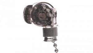 Wyłącznik pociągany z łańcuszkiem srebrny WC-1/SREBRNY