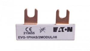 Szyna łączeniowa 1P 63A 10mm2 widełkowa EVG-1PHAS/2MODUL/HI 215655