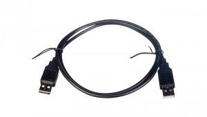 Kabel połączeniowy USB 2.0  Typ USB A/USB A, M/M czarny 1m AK-300100-010-S