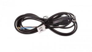 Przewód przyłączeniowy H03VVH2-F 2x0,75 2m czarny S19272
