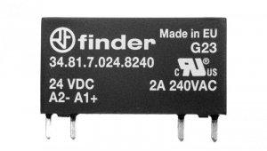 Wąskoprofilowy przekaźnik 5mm do obwodów drukowanych i gniazd SSR OC 2A/240VAC 24VDC wykonanie szczelne RTIII 34.81.7.024.8240
