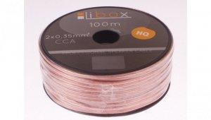 Przewód głośnikowy CCA 2x0,35 ECa LB0004 LIBOX /100m/
