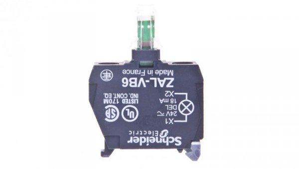 Zestaw świetlny z diodą LED niebieski 24V AC/DC ZALVB6