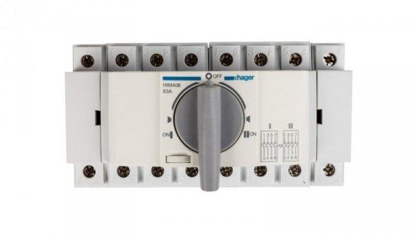 Przełącznik w układzie przełącznym I-0-II 4P 63A HIM406