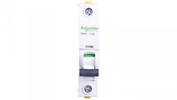 Wyłącznik nadprądowy 1P D 3A 6kA AC iC60N-D3 A9F05103