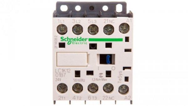 Stycznik mocy 12A 3P 24V AC 0Z 1R LC1K1201B7