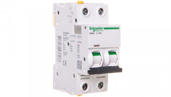Wyłącznik nadprądowy 2P C 10A 10kA AC iC60H-C10-2 A9F07210
