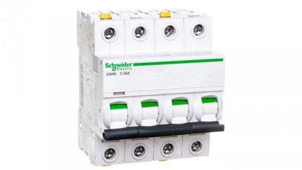 Wyłącznik nadprądowy 4P C 50A 6kA AC iC60N-C50-4 A9F04450