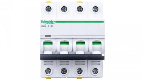 Wyłącznik nadprądowy 4P C 16A 6kA AC iC60N-C16-4 A9F04416