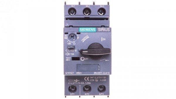 Wyłącznik silnikowy 3P 0,25kW 0,7-1A S00 3RV2011-0JA10