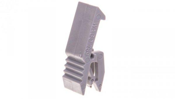 Zaczep montażowy do wtyków 2-torowych szary 769-430 /25szt./