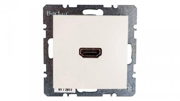 Berker/B.Kwadrat Gniazdo HDMI kremowe połysk S.1 3315428982