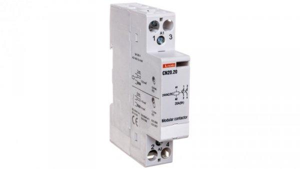 Stycznik modułowy 20A 2Z 0R 24V AC CN2020024