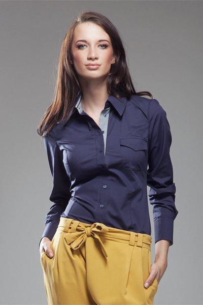 Koszula K36 Kratka/Navy blue - Nife